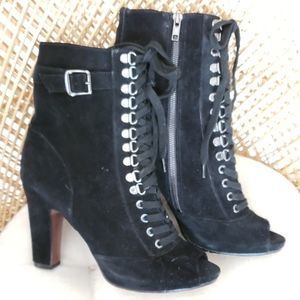 Sam Edelman leather lace up boots